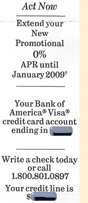 0% offer from Bank of America