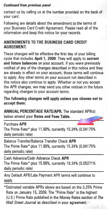 Chase Business Credit Card: Important Notice Regarding Changes To You  Account